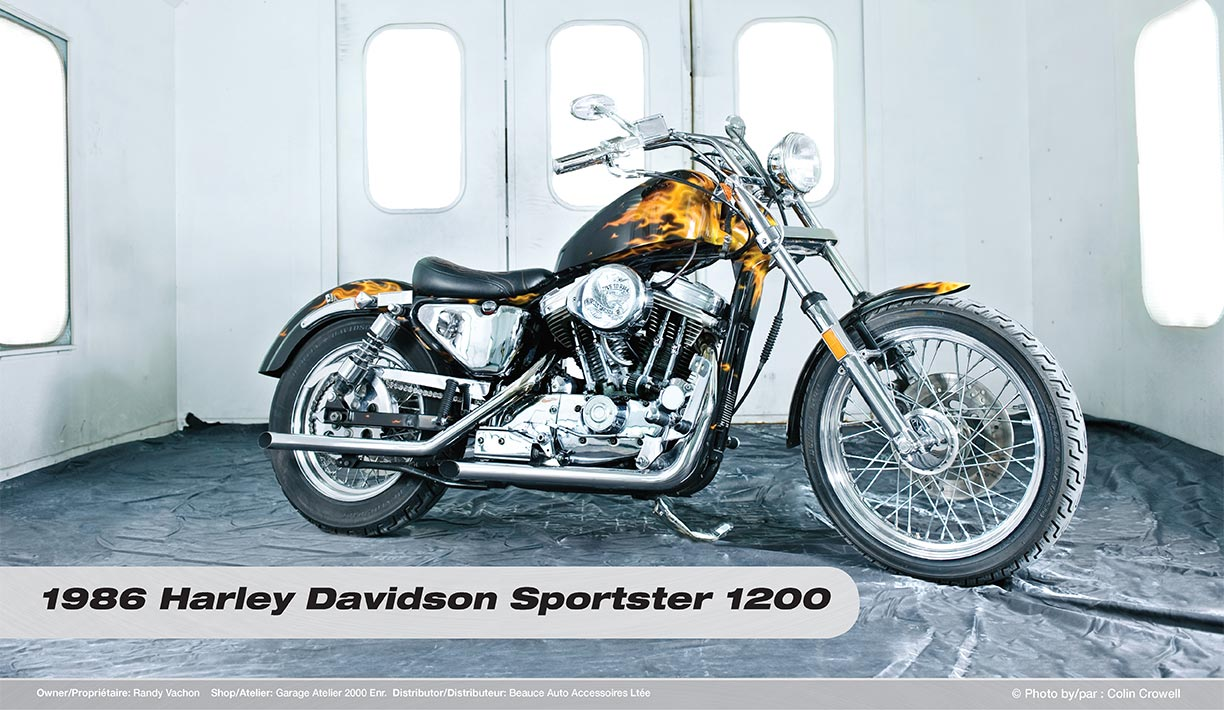 Previous Winners Gagnants Prcdents Ppg Platinum Calendars 1986 Harley Davidson Sportster 1200